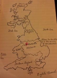 Map of Tilton