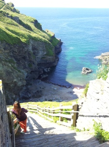 The steps leading down from Tintagel Castle