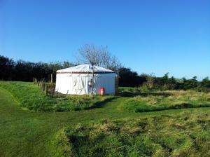 Glamping at a yurt in Pencuke Farm.