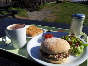 A well-earned break at the lone cafe at Kynance Cove.