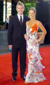 Lee with ex-wife Elizabeth Kemp