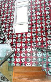 The Fornasetti wallpaper