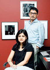 Adman Swapan Seth and his wife Sreya