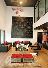 The airy living room