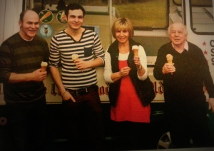 From left: Colin Vear, Ben Vear, Jane Vear and Frank Winstone. Jane is Frank's daughter.