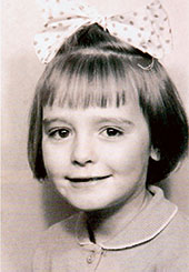 A shot of her as a child