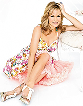 Amanda Holden sports Nia Frills, party shoes made in soft Nappa leather and finished with feminine bows and crystals.