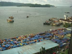 Kota Kinabalu's colourful waterfront
