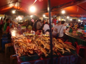 The colourful and smelly night market