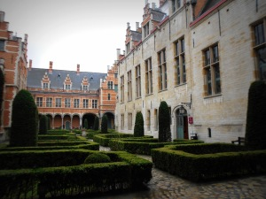 The courtyard outside Margaret of Austria's palace