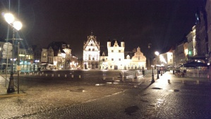 The Grote Markt, lit up at night