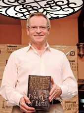 Jeffery Archer during his first tour in India