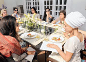 A raw food party to challenge the senses
