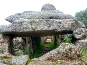 Ancient burial chambers in the nuraghi