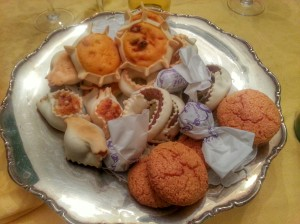 A platter of desserts baked by Caterina