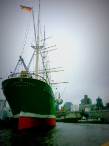 Rickmer Rickmers is a sailing ship (three-masted barque) moored as a museum ship in the harbour. But she is a ship with a history. Built in 1896 by the Rickmers shipyard in Bremerhaven, she was first used on the Hong Kong route carrying rice and bamboo. Rickmers Rickmers was even part of WWI as Britain's war efforts, but she was renamed  Flores at the time