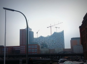 The Elbphilharmonie in HafenCity, the up and coming quarter in Hamburg, is supposed to be a landmark building. But the Germans quite hate it because it was largely funded by the city and its tax-payers and it only gets more and more expensive