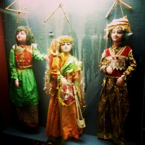 Puppets from Mahabharata, one of the two epic Sanskrit poems from ancient India