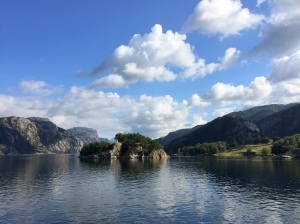 The glassy, perfect waters of Lysefjord