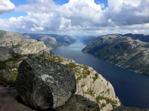 View of Lysefjord from Preikestolen