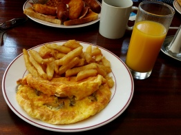 Omelettes could not get fluffier and chips more crisp than at this cafe in Mevagissey