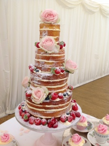 Stroud's naked cake is a combination of Victoria Sponge and orange cake with lemon curd and buttercream