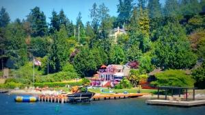 Waterfront homes on Lake Washington