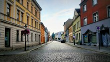 The colourful streets of Brandenburg